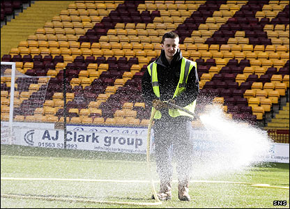 Motherwell pitch gets watered