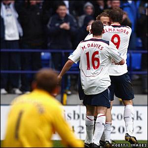 Bolton Wanderers celebrate