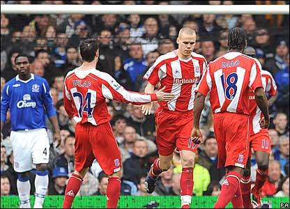 Rory Delap, Ryan Shawcross, Salif Diao, Stoke City