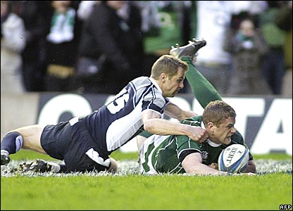 Chris Paterson, Scotland; Jamie Heaslip, Ireland