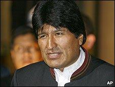 Bolvian President Evo Morales (17/02/2009)