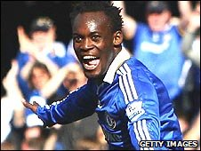 Michael Essien also scored against Man City at Stamford Bridge last season