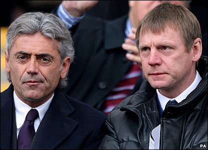 England general manager Franco Baldini and under-21 manager Stuart Pearce