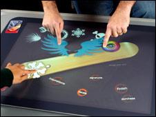 Microsoft's Surface computing device