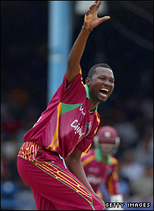 Sulieman Benn appeals for lbw