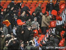Russian police clash with Zenit St Petersburg fans