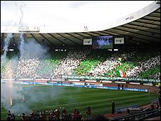 The Celtic end at Hampden