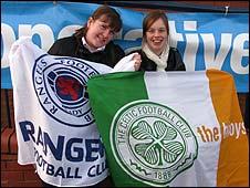 Rangers fan Lauren and Celtic supporter Chelsea, best of pals