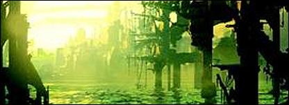 Detalle de la carátula de The Caryatids, de Bruce Sterling