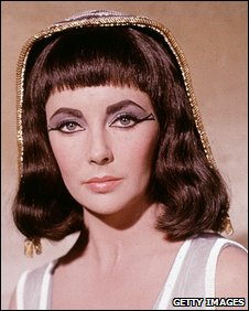 Elizabeth Taylor playing Cleopatra
