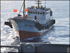 Chinese trawler in US Navy picture 8 Mar 08