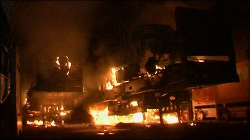 Fire at Nato transport terminal in Pakistan