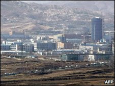Kaesong Industrial Zone, South Korean vehicles leaving it 10 Mar 09