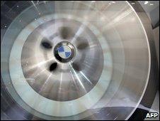 Wheel on BMW car, AFP
