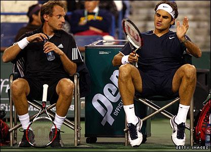 Yves Allegro and Roger Federer