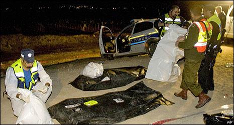 Scene of attack on policemen at Massua, Jordan Valley