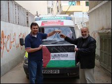 Sakir Yildirim delivers the ambulance