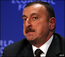 Ilham Aliyev was re-elected in October 2008 with 89% of the vote
