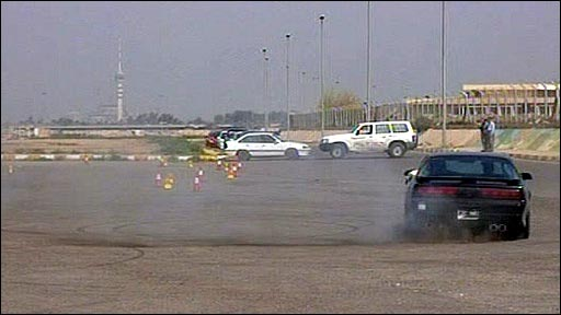 Car racing in Baghdad
