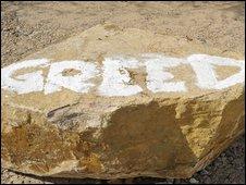 Slogan daubed in Worth Matravers in Dorset