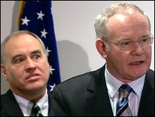Thomas DiNapoli and Martin McGuinness