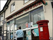 A post office in North West England