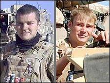 Corporal Dean John (L) and Corporal Graeme Stiff