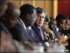 "Gordon Brown at the ""Pre-London Summit Africa Outreach Event"" at Lancaster House, London"