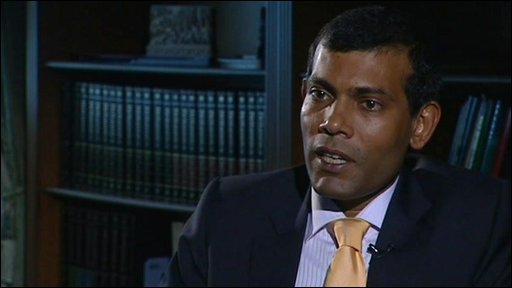President of the Maldives, Mohamed Nasheed