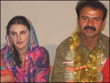 Mukhtar Mai with her husband Nasir Abbas Gabol