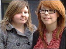 Sam Marlow (left) and Yasmin Simpson