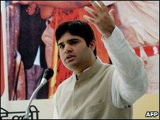 Varun Gandhi in 2004