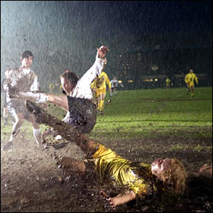 Derby lose 5-0 to Leeds on a wet night in 1969