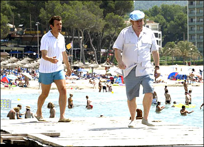 Clough and Taylor have a mighty row on holiday in Majorca