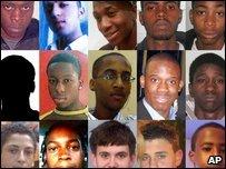 Victims of gun and knife crimes