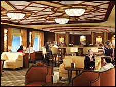 The new Queen Elizabeth's  interior courtesy of Cunard