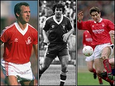 Three players whose potential clough nurtured (pic: Allsport)