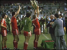 Lifting the European Cup