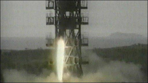 Rocket launcher in N Korea