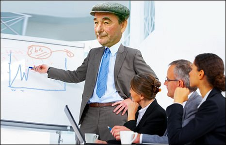 Brian Clough gives a seminar