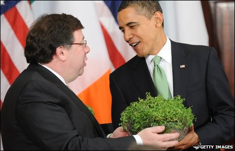 Brian Cowen and Barack Obama