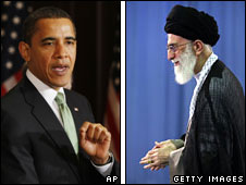US President Barack Obama and Iranian Supreme Leader Ayatollah Khamenei