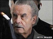 La primera foto del rostro de Josef Fritzl captada durante el juicio.