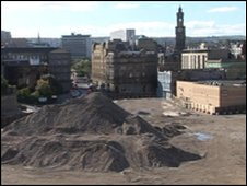 Part of the Forster Square site in Bradford which has been demolished
