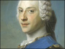 Bonnie Prince Charlie's portrait in the Scottish National Portrait Gallery