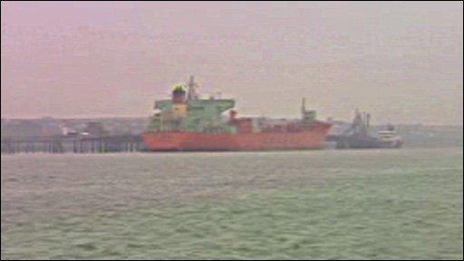 Oil tanker at Milford Haven