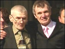 Sean Hodgson (left) and his brother Peter