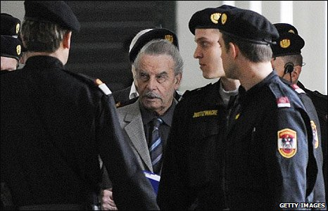 Josef Fritzl arrives in court in St Poelten, Austria (17 March 2009)