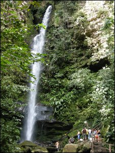 The Ahuashiyacu waterfall is one of more than 10 in the Cordillera Escalera