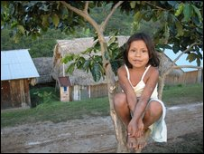Girl in the native community of Alto Shambuyacu